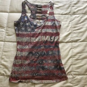 Distressed Star and Stripes tank